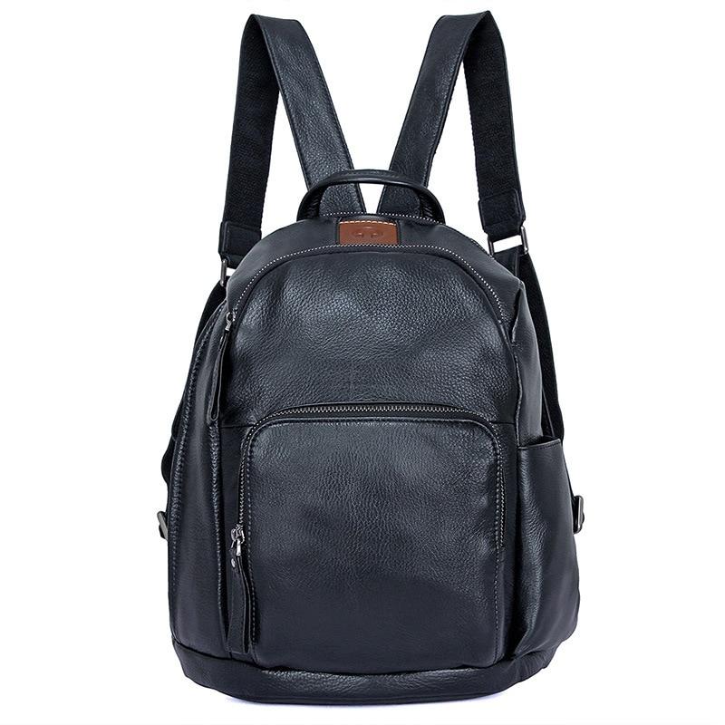 Backpack Man Black Cow Leather Business Vintage Brand Fashion Travel Backpacks Bags Men Casual Book School Laptop Backpacks Bag