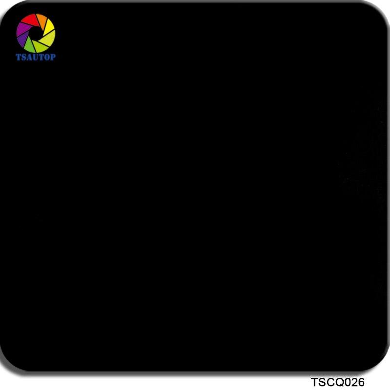 TSAUTOP Size 0.5m X 20m Whole Black Water-transfer Hydrographics Printing Film For Aqua Print WDF026