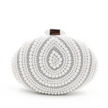 LLJUNDUI Liefern Europäischen und Amerikanischen Stil Oval High-grade Diamanten besetzte Abendtaschen für Bankett Glänzenden Perle Party kupplung