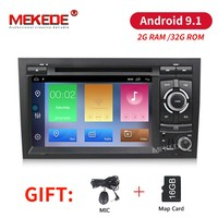 2G RAM 32G ROM Car Multimedia player Android 9.1 GPS Autoradio Stereo System For Audi A4 S4 2002 2008 wifi Car DVD Player