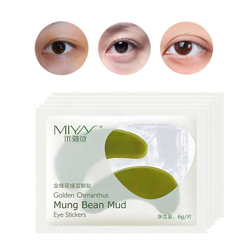 Mung Bean Mud E ye Care M ask Dark Circle Anti Aging Wrinkle Fine Lines Skin Face
