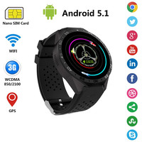 Newest Zdenek Android5 1 Smart Watch MTK6580 Quad Core Wearable Devices Support Wifi Sim Card 3G