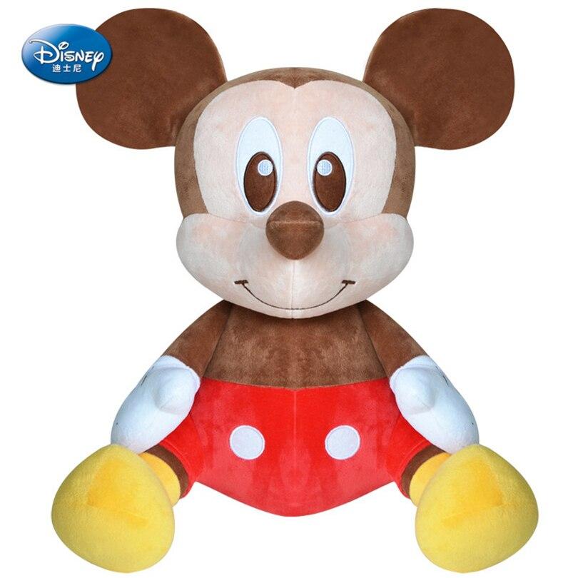 Disney authentique Mickey souris poupée 22 cm en peluche poupée fille jouet 2018 mode enfants cadeau d'anniversaire classique dessin animé figure SZZ036