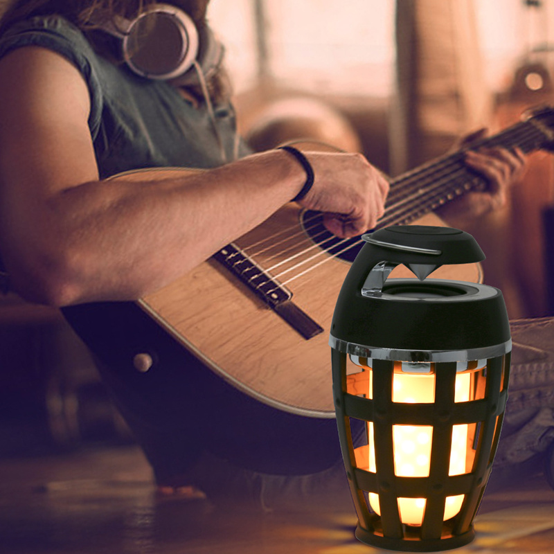 LED Flame Light Bluetooth Speaker Touch Soft Light Portable Stereo Waterproof Intelligent Sound Dance Music Festival Party New|LED Bulbs & Tubes|   - title=