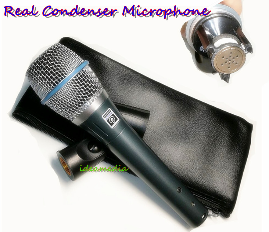 ideamedia 1 1 Real Condenser Microphone TOP Quality Vocal Condenser Wire MicKaraoke Handheld Microphone with Amazing