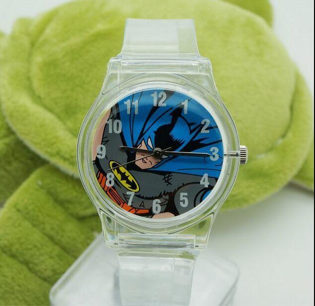 HOT SALE Best Gift Fashion Unique Batman Cartoon Watch Boys Kid Children Wristwatch 30M Waterproof Quartz