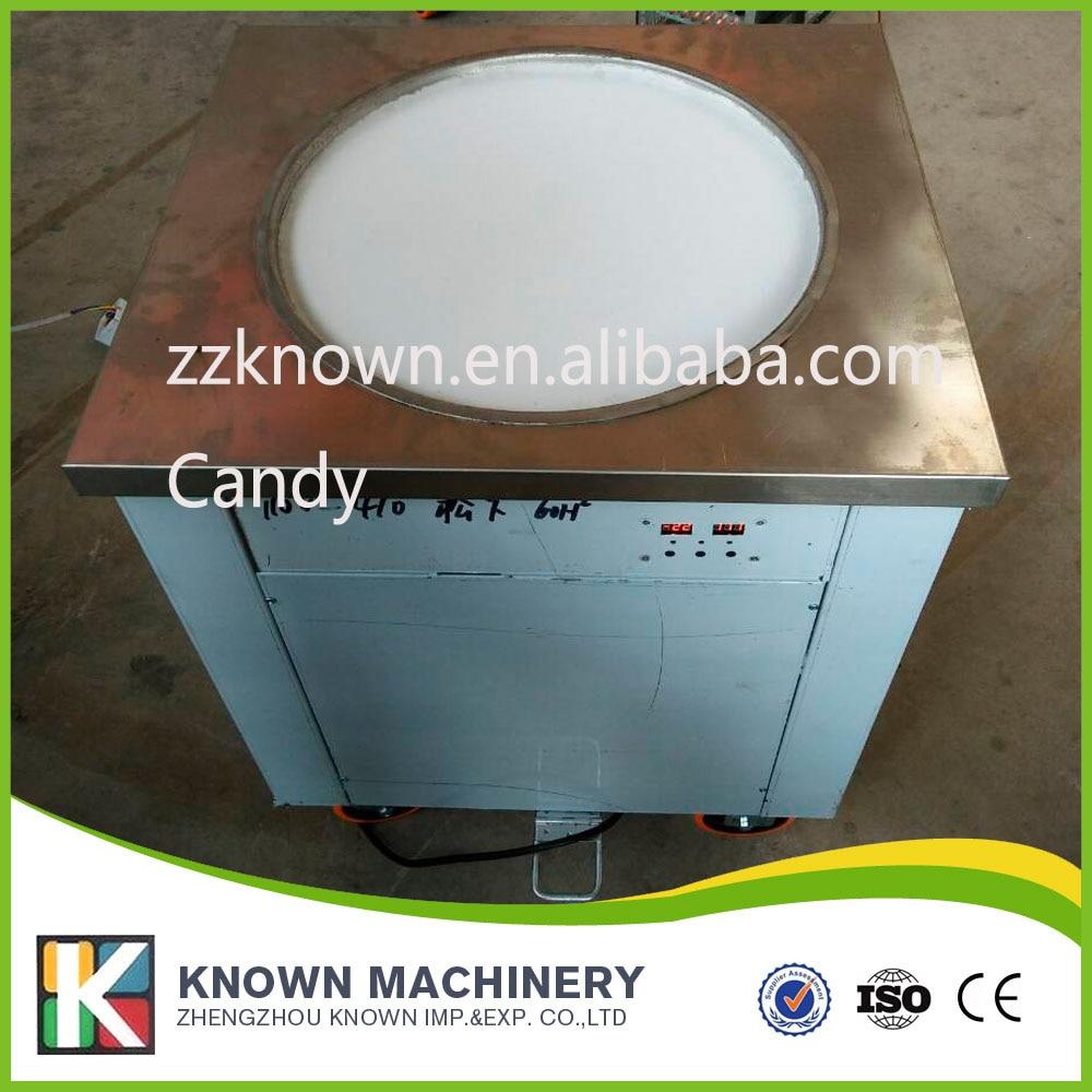 Ce Certification Fried Ice Cream Machine 220v110v Ice Pan Machine