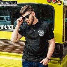 NBHUZEHUA High Quality Short Sleeve Black Polo Shirt Men 2017 Summer Casual Mens Clothing Plus Size Male Polos 4xl 5xl 6xl 1864