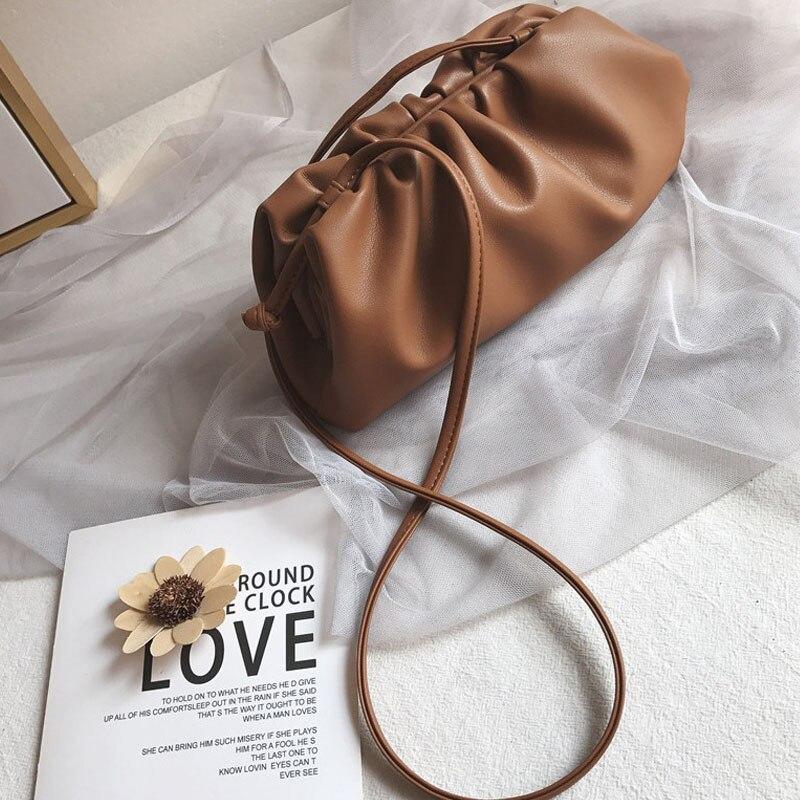 Sacs à boulette froissée pour femmes 2020 sacs à main de luxe concepteur nuage Hobos femmes pochette en cuir véritable épaule sacs à bandoulière