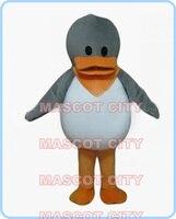 Gris de la mascota ugly ducking pato traje de la mascota de tamaño adulto historia de cuento de hadas tema escuela niños performing disfraces fancy dress 2569