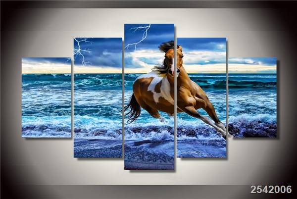 Hd Printed Beach Horse Painting On Canvas Room Decoration Print Poster Picture Canvas Free Shipping/Ny-2755 Christmas gift