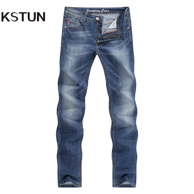 KSTUN Slim Skinny Jeans Denim Pants Trousers Man Male
