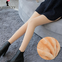Sexy Black Plus Velvet 10 Celsius 320g Winter Pantyhose Thicken Natural Skin Warm Women Pantyhose Tights