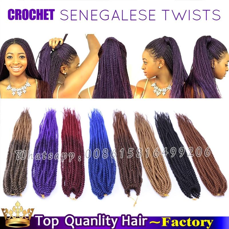 18inch Crochet Senegalese Twists Hairstyles Kanekalon Ombre Braiding