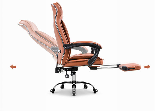 online shop big tall deluxe reclining office chair with footrest