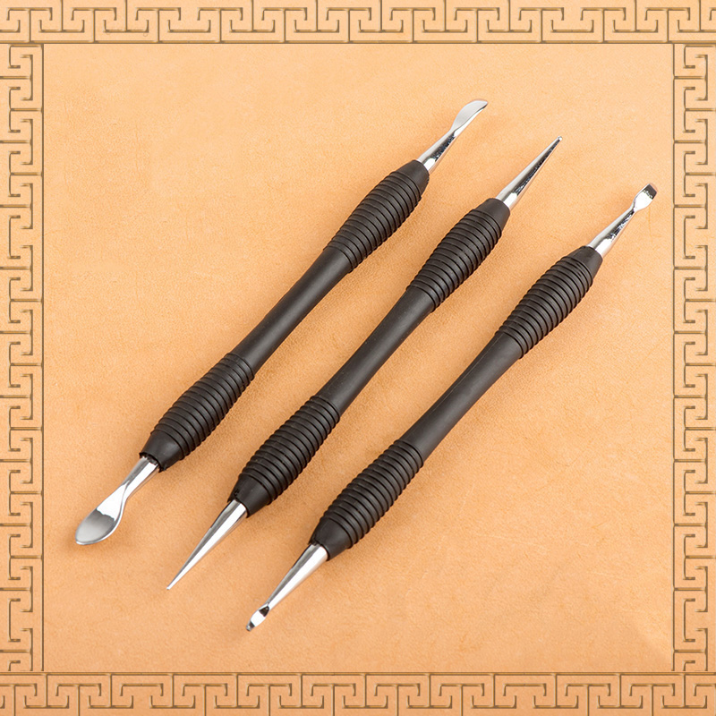 High quality leather carving Cowhide pressure wipers DIY manual scribing tool,stroke shaping tool marking tools