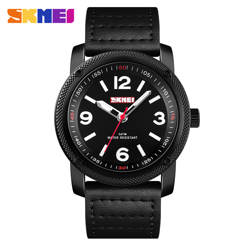SKMEI 1417 Men's Fashion Sport Watches Men Quartz Clock Man Leather Strap Top Brand Luxury Waterproof Watch Relogio Masculino skmei men s quartz watch fashion watches leather strap 3bar waterproof luxury brand wristwatches clock relogio masculino 9106