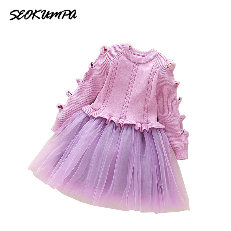 Winter Baby Dress Long Sleeve Velvet Ruffles Dresses For Princess Girl Clothing Party Dance Weeding Dress Of Baby Girls Clothes 2017 spring fall winter flower girls dress long sleeve plus velvet thickness princess dress fashion net yarn dance dress