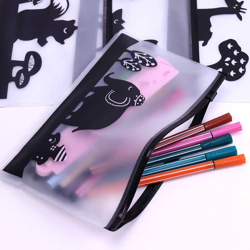 Прозрачный ПВХ пенал; Забавный животные водостойкие карандаши сумки высококачественные канцтовары сумка офисные школьные принадлежности