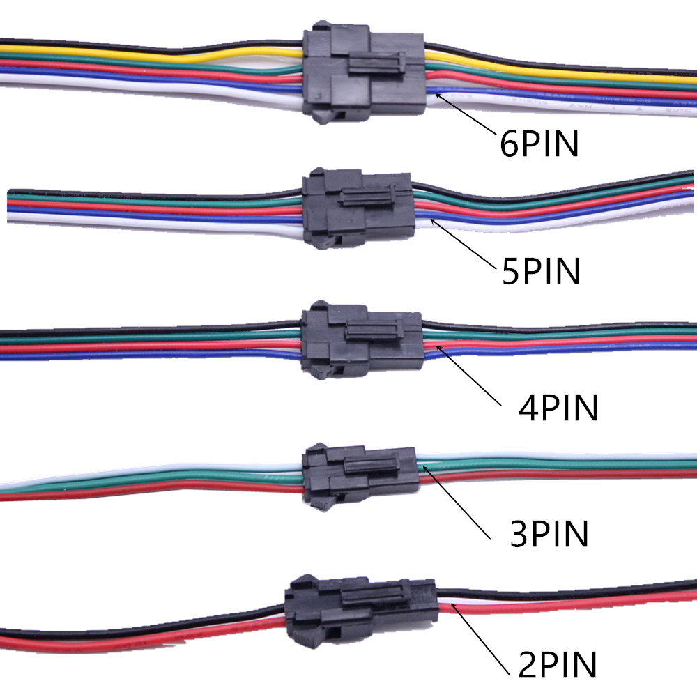 WW LED Strip Light 1-100 Set 5 PIN Connector Cable Cord for 3528 5050 RGBW RGB