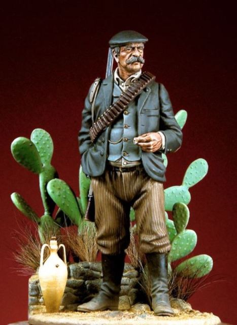Assembly Unpainted  Scale 1/18 90mm The Sicilian Campiere 90mm   Historical Toy Resin Model Miniature Kit