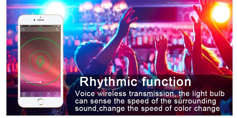 85-265V E27 LED Lamp RGB 15W Bluetooth APP Wifi Control Smart Bulb 10W RGBW RGBWW Light Bulb IR Remote Control Home Lighting (15)