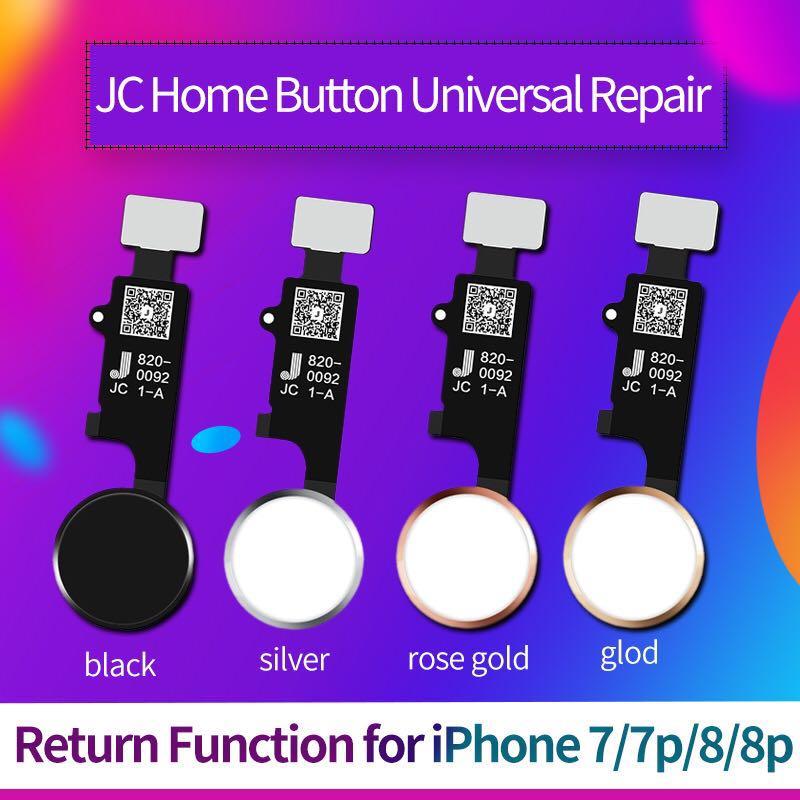 JC Universal Mechanical Button Home Flex Button For IPhone 7 Plus 8 8 Plus Return Button Back Button Return Repair No Bluetoot