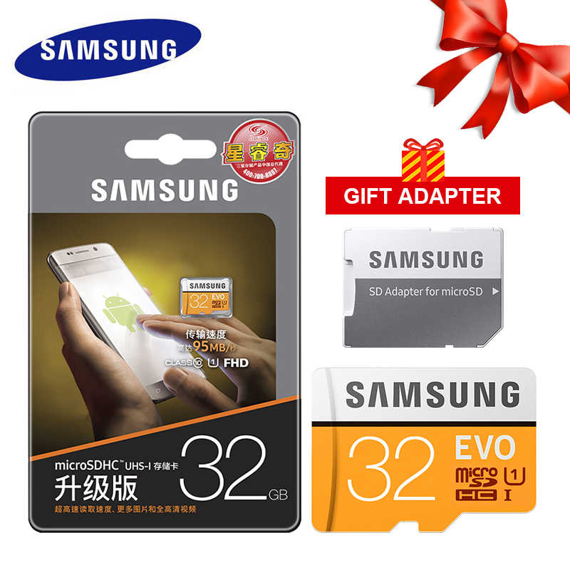 SAMSUNG Micro SD de 32GB EVO Plus de 64GB tarjeta de memoria Class 10 128GB microSDXC U3 UHS-I 64GB TF Tarjeta de 4K HD para Smartphone Tablet pc