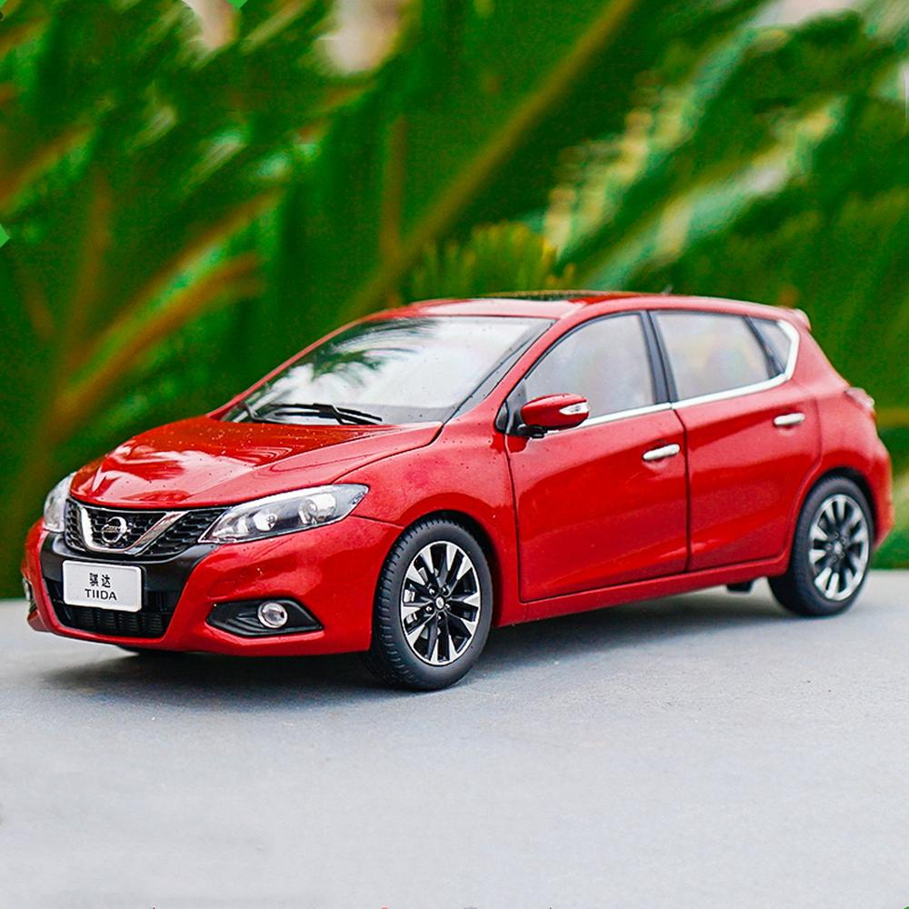 1/18 Scale <font><b>Nissan</b></font> TIIDA Hatchback 2016 Red <font><b>Diecast</b></font> <font><b>Car</b></font> Model Toy Collection image