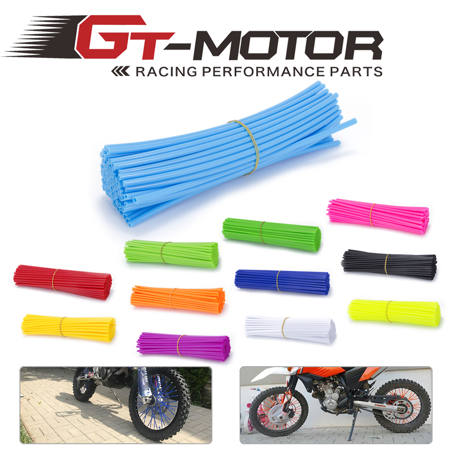 GT Motor - 72piece Motorcycle Dirt Bike Enduro Off Road Rim Wheel spoke skins For honda crf 450 CR CRF XR XL 85 125 250 500