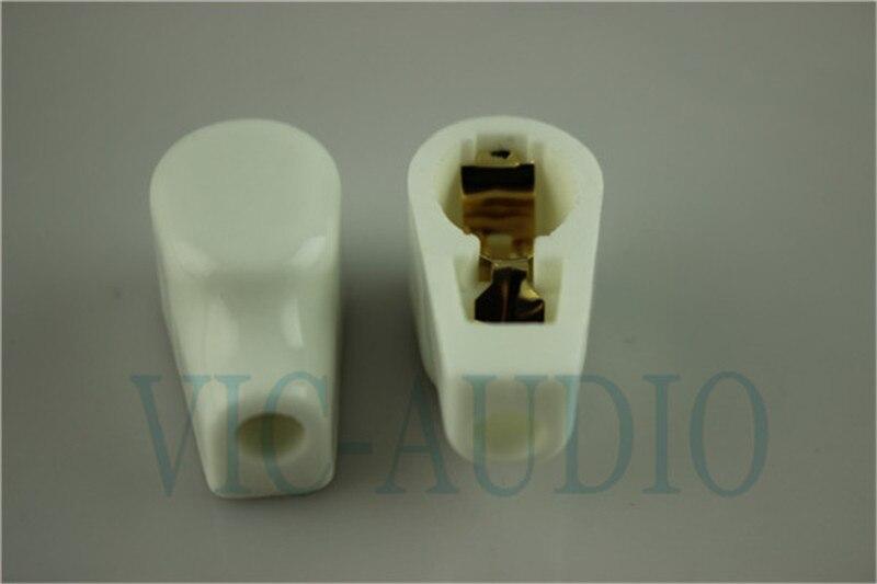 Gold überzogene keramische ANODE Vakuumrohrkappen-Griffkappe für - Heim-Audio und Video