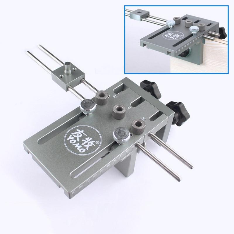 3 en 1 bricolage travail du bois trou positionneur perceuse poinçon Guide localisateur gabarit menuiserie système Kit alliage d'aluminium bois travail outil