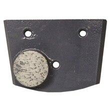Trapezoid diamond single Dot button concrete metal bond for Floor turbo Grinder
