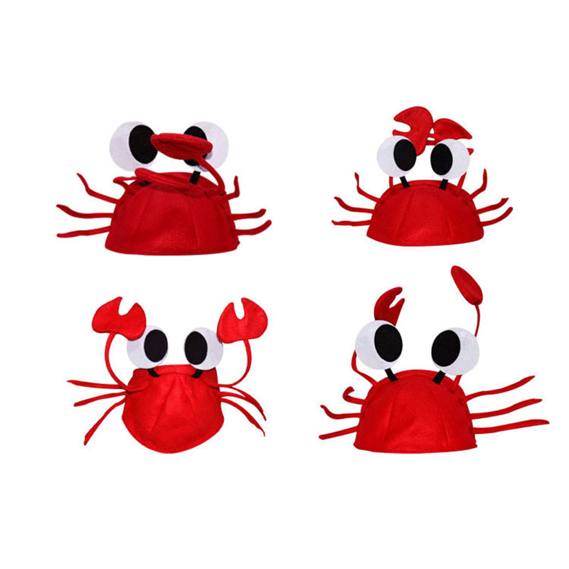 1195fb380f5 Detail Feedback Questions about 2018 Hot Halloween Christmas Cute Red Lobster  Crab Hat Adult Fancy Party Costume Cap Gift A17 40 on Aliexpress.com