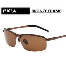 Bronze Alloy Frame Polarized Brown Sunglasses for Men Top Quaity EXIA OPTICAL KD-3043 Series