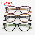 Most popular acetate optical frame with spring hinge vintage eyeglasses for men and women new brand fashion eyewear 2592