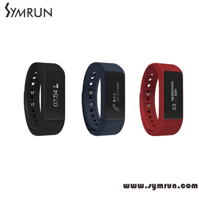 Symrun inteligente pulseira bluetooth pulseira inteligente à prova d' água rastreador de fitness saúde monitor de sono smart watch smartband gps