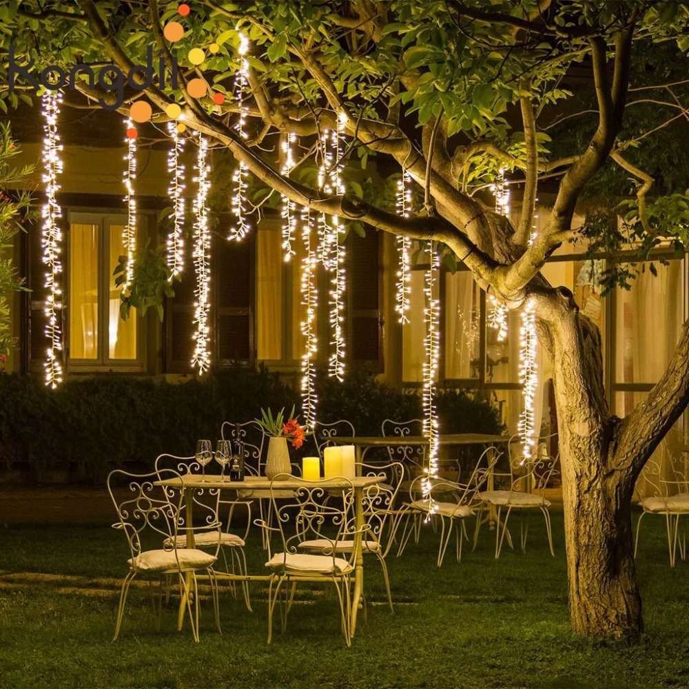 4mx1.5m Connectable Led Festoon String Fairy Light Garland Christmas Light String Tree Outdoor Garden Party Wedding Decoration