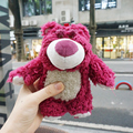 Cute Korean Strawberry bear cartoon plush toy back cover toy For Apple iPhone 7 6 6s plus For Samsung S5 S6 S6EDG NOTE 3 4 5