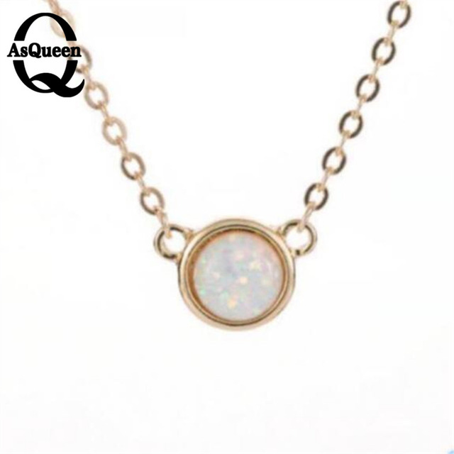 Simple small round high quality pendant necklace natural colorful simple small round high quality pendant necklace natural colorful fluorescent opal necklace wholesale collier femme aloadofball Gallery