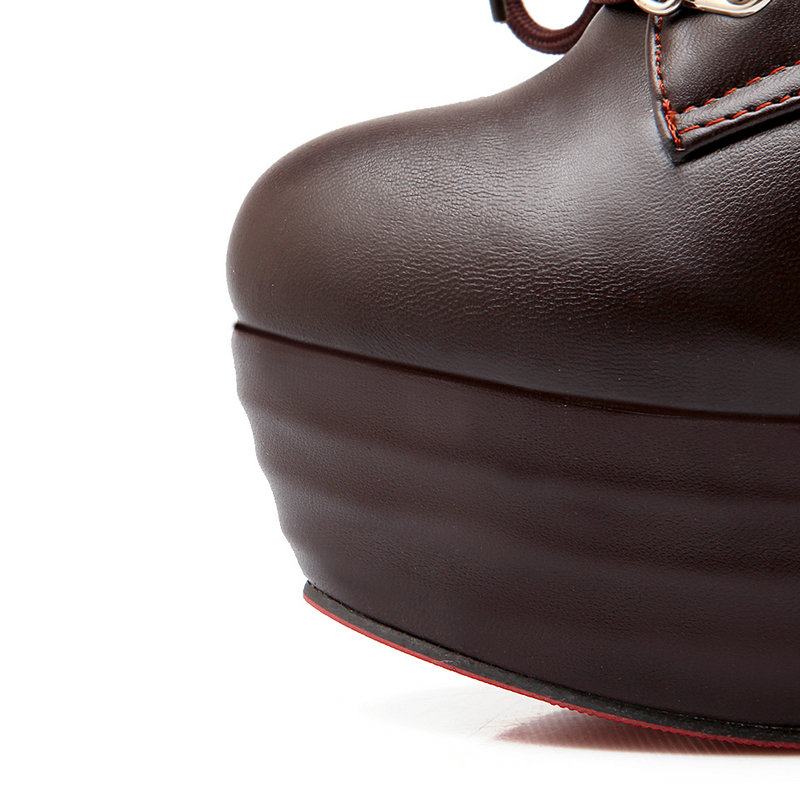 Casual Moda Botas blanco Zapatos Tobillo Talón Ronda Las Toe Party De Alto Primavera 2019 Otoño Negro 14 Cm Erogenous Mujeres marrón IaRq54nwSx