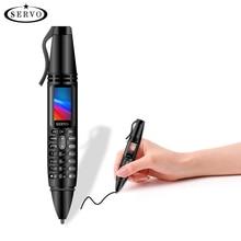 """SERVO K07 stylo mini téléphone portable 0.96 """"minuscule écran GSM double SIM caméra lampe de poche Bluetooth composeur téléphones mobiles avec stylo denregistrement"""