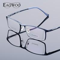 Eagwoo Aluminum Men Wide Face Prescription Eyeglasses Full Rim Optical Frame Business Eye Glasses Light Big