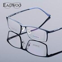 Eagwoo gafas graduadas de aluminio para hombre, gafas de Marco óptico borde completo, de negocios, ligeras, grandes, MF2351
