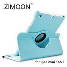 Zimoon чехол для Apple iPad Mini 1 2 3 Магнитный Авто проснуться сна флип Личи кожаный чехол с умным подставка-держатель
