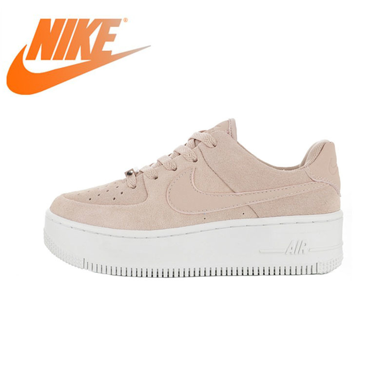 NIKE Sneaker Skateboarding-Shoes Top-Quality Air-Force 1-Sage Women's Authentic Original