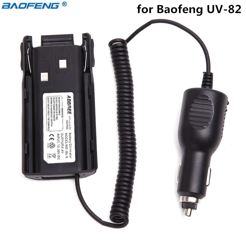 Original Baofeng UV-82 12V-36V Car Battery Eliminator For Baofeng UV-82 Plus UV-8D UV-82HX UV-82HP Two Way Radio Walkie Talkie