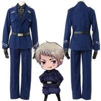 APH Axis Powers Hetalia Prussia Gilbert Beillschmidt Uniform Outfit Cosplay Costume Coat+Shirt+Pants+Belt+Tie+Cross+Gloves