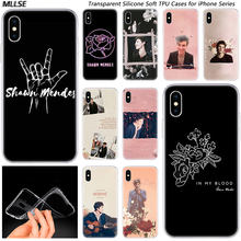 Hot Shawn Mendes Pink Fashion Silikon Case Penutup untuk Apple Iphone 11 Pro XS Max X XR 7 8 6 6 S PLUS 5S SE TPU Soft Phone Kasus(China)