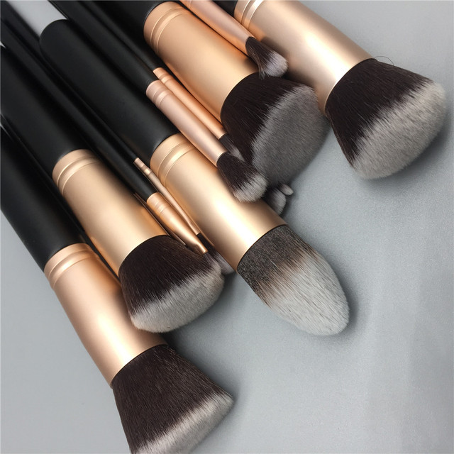 14pcs makeup brushes set for foundation powder blusher lip eyebrow eyeshadow eyeliner brush cosmetic tool 1